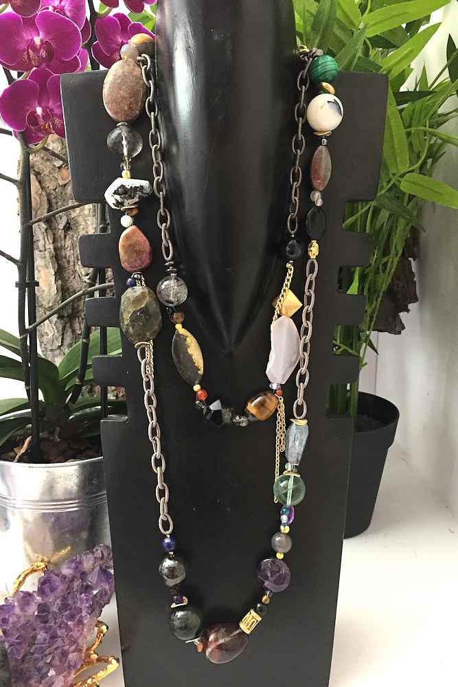 Spirit of the Earth - Quartz, améthyste, obsidienne, cristal, multi-pierre